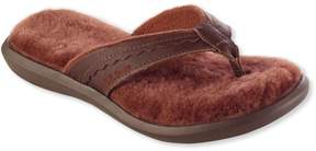 L.L. Bean L.L.Bean Wicked Good Slippers, Leather Flip-Flops