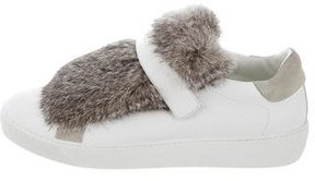 Moncler Lucie Rabbit Fur Sneakers