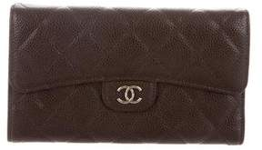 Chanel Quilted Caviar Continental Wallet