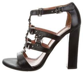 Alaia Leather Cutout Sandals