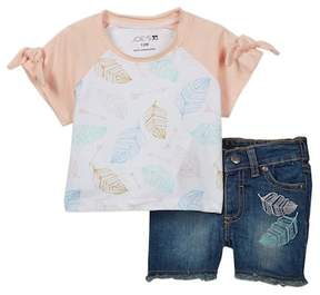 Joe's Jeans 2-Piece Short Sleeve Set (Baby Girls)