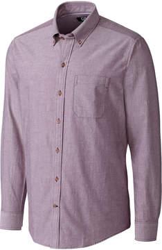 Cutter & Buck Lavender Long-Sleeve Oxford Shirt - Men
