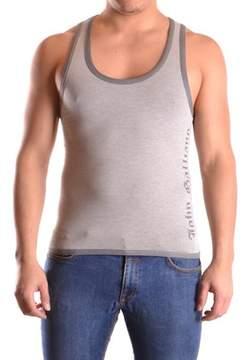 Galliano Men's Grey Cotton Tank Top.