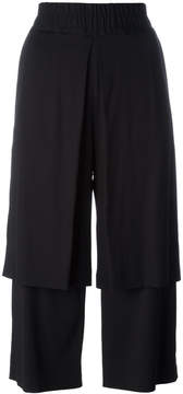 Aalto double layer cropped trousers