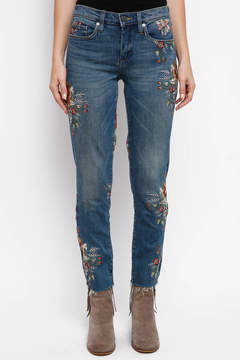 Blank Floral Embroidered Skinny Jeans in Back to Nature