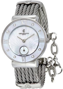 Charriol St Tropez Mother of Pearl Dial Stainless Steel Ladies Watch