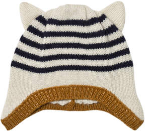 Emile et Ida Ecru Hat with Animal Ears