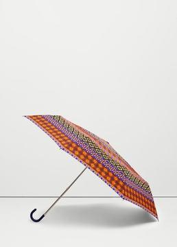 Mango Outlet Mixed print umbrella