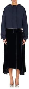 Cédric Charlier Women's Cotton Terry & Velvet Hoodie Dress
