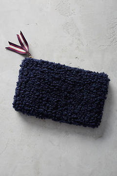 Anthropologie Shearling Pouch