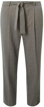 Dorothy Perkins Grey Tie Tapered Leg Trousers