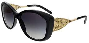 Burberry Be4208q 30018g Black Oval Sunglasses.