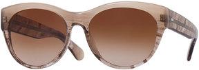 Oliver Peoples Mande 55 Retro Cat-Eye Sunglasses, Pecan Pie