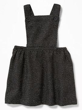 Old Navy Metallic-Dobby Apron Dress for Baby