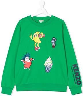 Kenzo Teen multi-printed sweatshirt