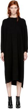 Enfold Black Wool Straight Dress