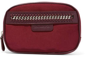 Stella McCartney - The Falabella Chain And Faux Leather-trimmed Cosmetics Case - Burgundy