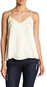 Dee Elly Embroidered Satin Tank Top