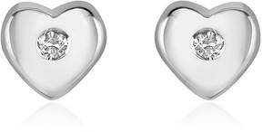 Forzieri 0.055 ct Diamond Heart 18K Gold Earrings