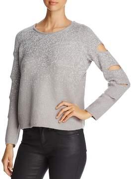 Design History Sparkle Cutout-Sleeve Sweater