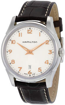 Hamilton Jazzmaster Thinline Silver Dial Brown Leather Men's Watch