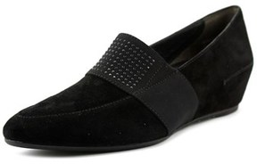 Paul Green Dazzle Studs Women Open Toe Suede Black Wedge Heel.