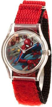 Marvel Spiderman Boys Red Strap Watch-Wma000224