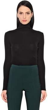 Antonio Berardi Wool & Silk Cropped Sweater