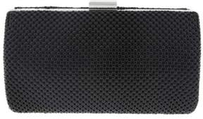 Nina Metal Mesh Box Clutch - Black