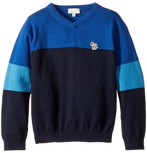 Paul Smith V-Neck Color Block Sweater Boy's Sweater