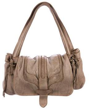 Zadig & Voltaire Distressed Leather Shoulder Bag