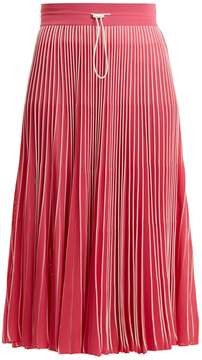 Valentino High-rise pleated jersey midi skirt