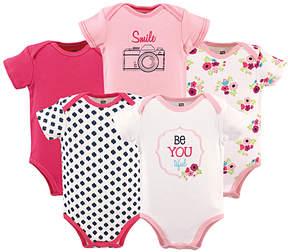 Hudson Baby Pink 'Smile' Bodysuit Set - Infant