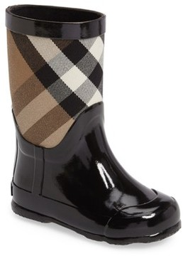 Burberry Toddler Boy's 'Ranmoor' Waterproof Rain Boot