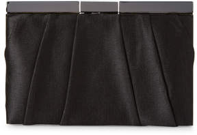 La Regale Black Pleated Clutch