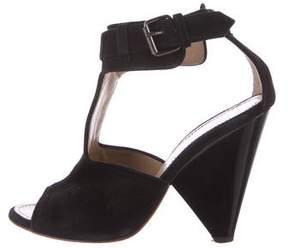 Proenza Schouler Suede Cutout Sandals