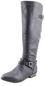 Material Girl Capri Women Round Toe Synthetic Black Knee High Boot.