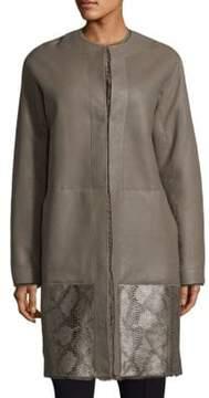 Elie Tahari Shearling Reversible Jordy Coat