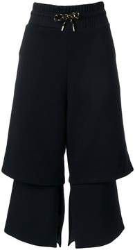 Aalto tiered drawstring cropped trousers