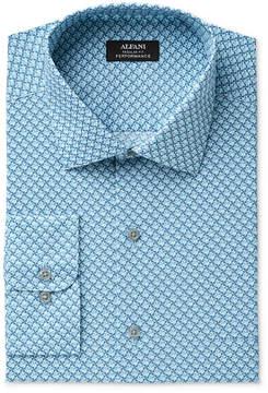 Alfani Men's Classic/Regular Fit Performance Windmill Geometric Print Dress Shirt, Created for Macy's