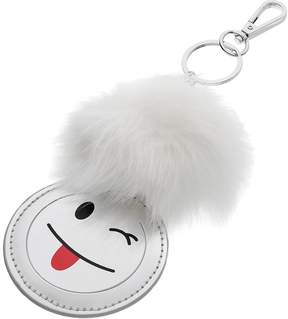 Mudd Tongue Emoji Pom Pom Key Chain