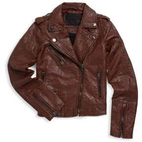 Blank NYC Girl's Faux Leather Moto Jacket