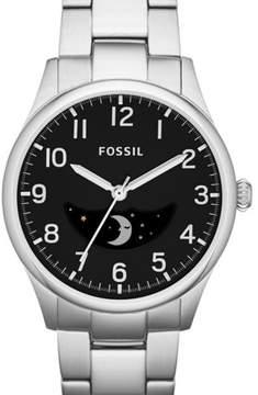 Fossil The Agent FS4848 Silver/Black Analog Quartz Men's Watch