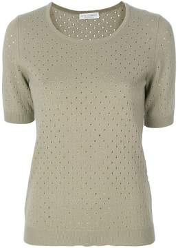 Le Tricot Perugia punch hole knit top