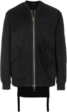 Helmut Lang patchwork bomber jacket
