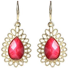 Amrita Singh Fuchsia & Goldtone Surf Lodge Drop Earrings