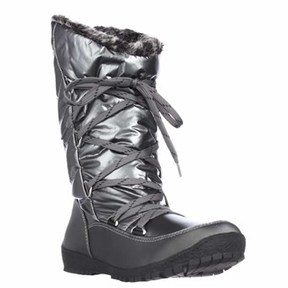 Sporto Charles Angled Calf Waterproof Winter Boots, Pewter.
