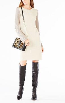 BCBGMAXAZRIA Nylah Asymmetrical Sweater Dress