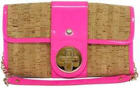 Kate Spade Hot Pink Patent Leather & Cork Handbag - PINK - STYLE
