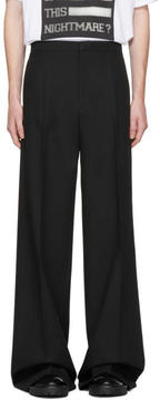 Raf Simons Black Wool Wide-Leg Chino Trousers